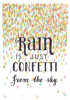 Sanny van Loon 'A4 Poster Rain'