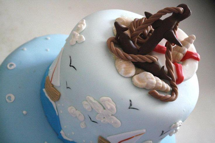 #torta marina con ancora. Ideata da Simona Palombaro della pasticceria La Mimosa a Tollo