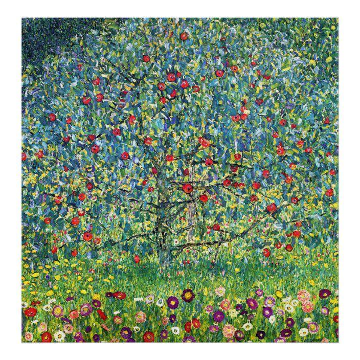 Gustav Klimt Apple Tree Poster Zazzle Com In 2020 Gustav Klimt Art Klimt Art Gustav Klimt