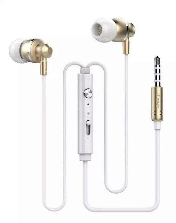 Metal Stereo Bass Headphone With Mic & Volume +/-