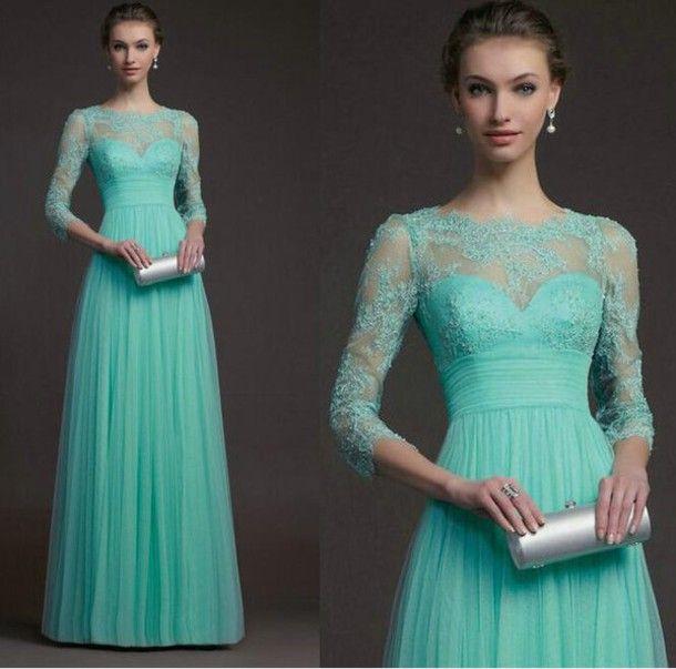 Amazing long sleeve prom dress