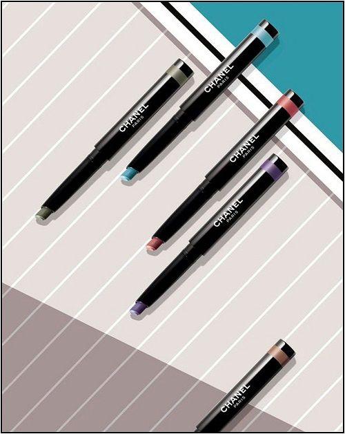 Stylo fards à paupière Chanel de la collection Mediterranee   #eyeshadow #maquillage #makeup #summer15 #ete #beaute #chanel #makeupaddict #beautyaddict
