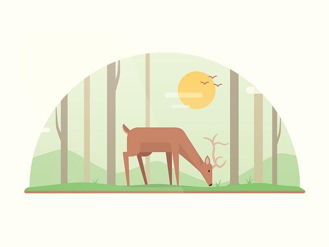 Deer-01@MseDalin采集到扁平化-点线面(332图)_花瓣undefined