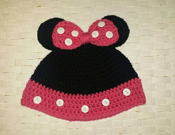 Minnie Mouse Crochet Hat by MaggieInMind on Etsy