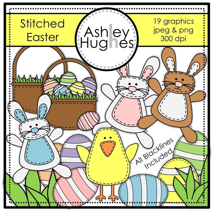 $ Stitched Easter: Graphics/Clipart for Commercial Use