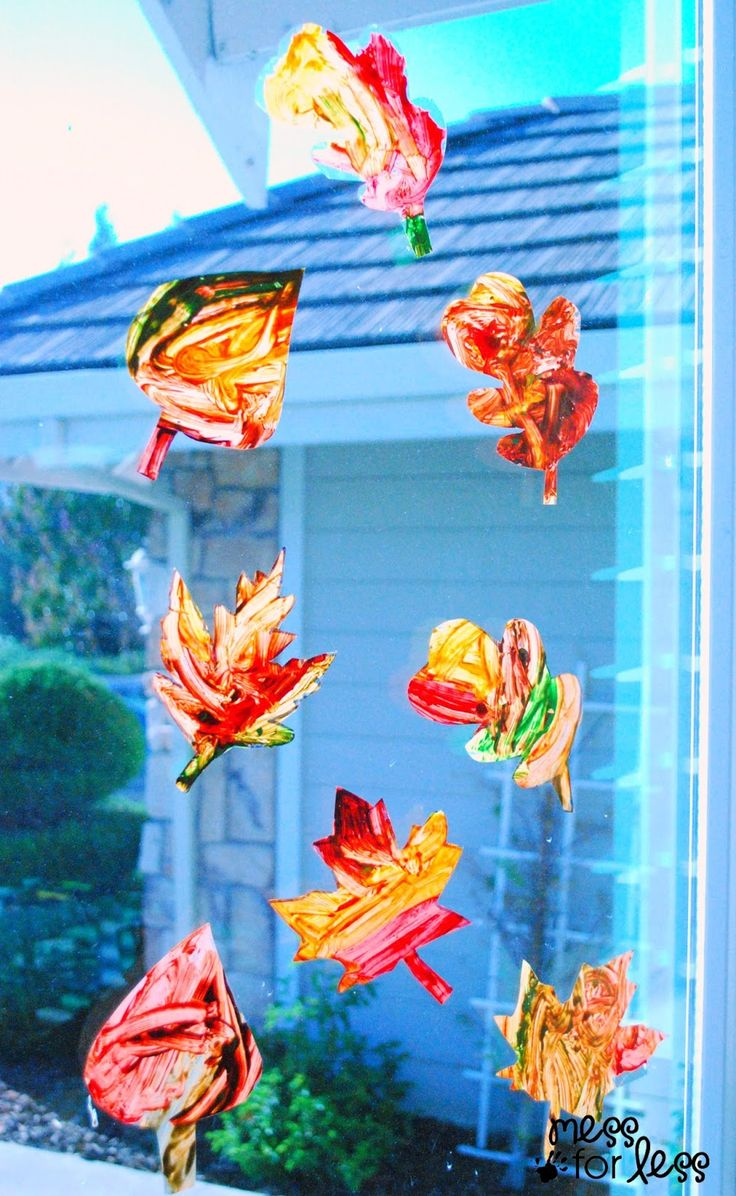 Contact Paper Window Stickers - Fall Leaves