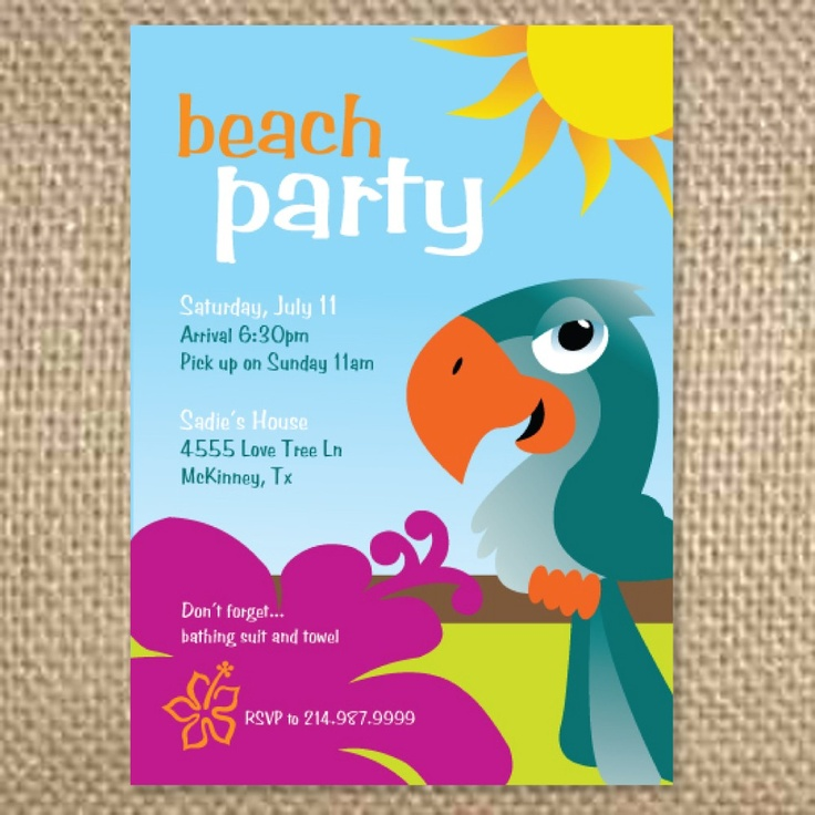 29 best kids birthday party invites images on Pinterest | Pirates ...