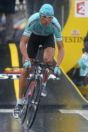 Jan Ullrich...this is the year he had his best shot at LA..if not for this rain.