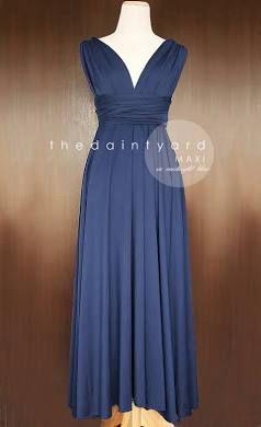 218f69a140a thedaintyard Maxi Midnight Blue Bridesmaid Dress Convertible Dress ...