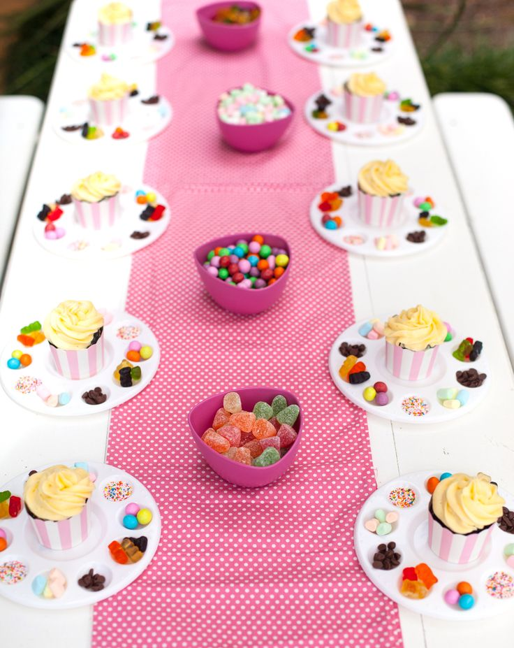 Bake Shoppe Party Activity... decorate your own cupcake! #PartyGameIdeas #BakeShoppePartyIdeas #DecorateYourOwnCupcake