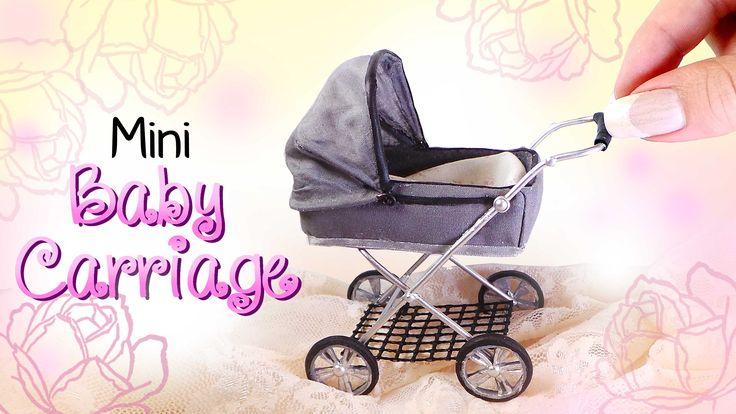 Miniature Baby Carriage Tutorial // DIY Dolls/Dollhouse