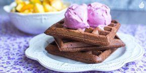 Waffle al cioccolato | Ricetta vegan - Il Goloso Mangiar Sano