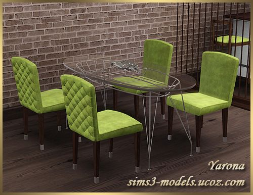 Dining furniture and decor by yarona sims 3 downloads cc for Sims 3 dining room ideas