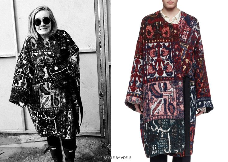 What:  Chloé Tapestry Jacquard Round-Neck Coat | x Where: Glastonbury 2016  (Backstage) When: June 25th, 2016