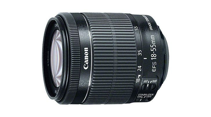 Canon EF-S 18-55 mm f / 3.5-5.6 IS STM in kit con Canon Rebel