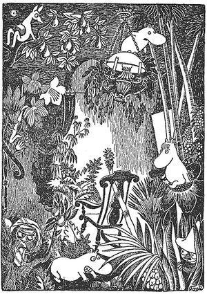 ムーミン線画◆トーベ・ヤンソン