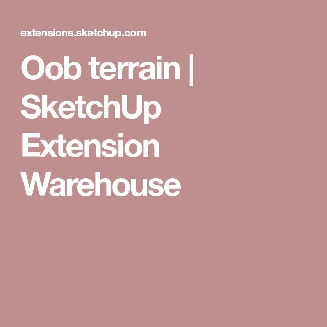 Oob terrain | SketchUp Extension Warehouse