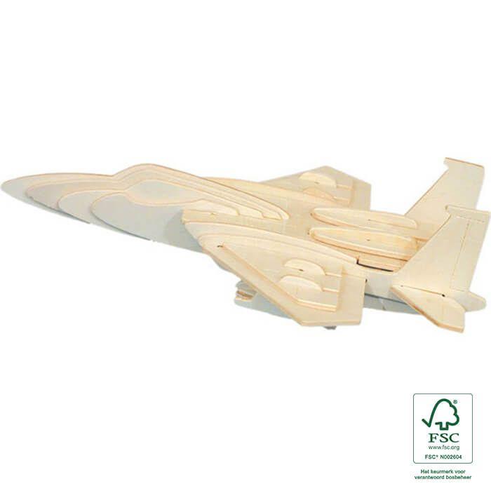 3D puzzels houten vliegtuig - F-15 Eagle