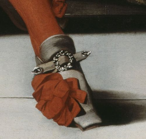 Shoe detail from a 1670 portrait of Louis XIV.