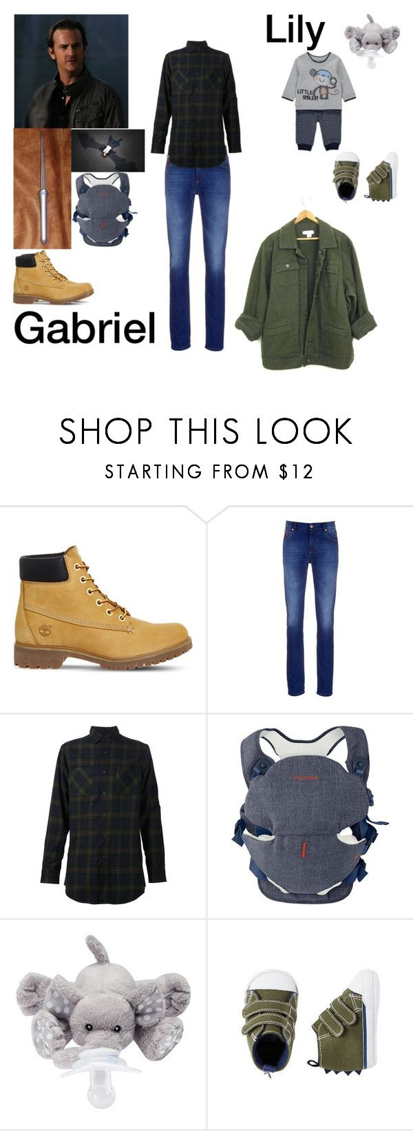 """""""Gabriel & Lily stop Loki"""" by theodora-morairty ❤ liked on Polyvore featuring Timberland, Isaia, Maxi-Cosi and Carter's"""