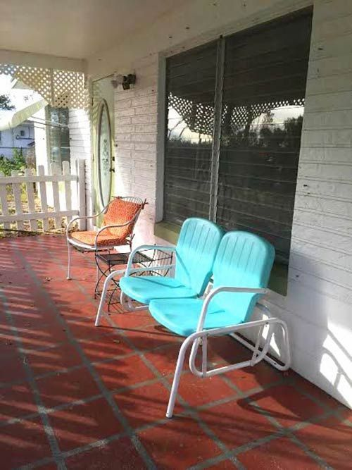 Kristen And Paulu0027s Midcentury Modest Florida Getaway. Vintage Patio  FurnitureRetro ...