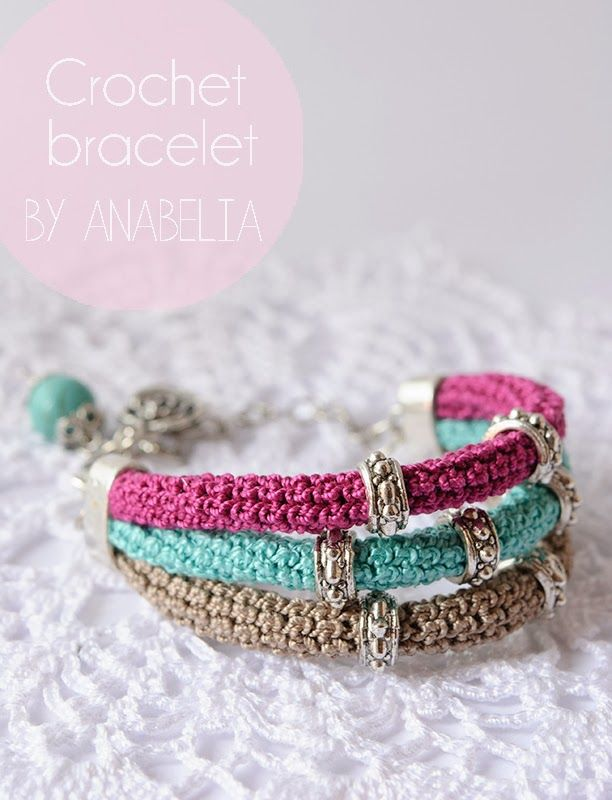 77 best -::- Crochet bracelets -::- images on Pinterest | Crochet ...