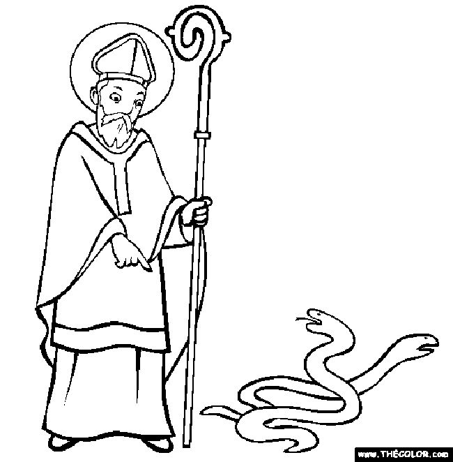 st patrick coloring page catholic - St Patrick Coloring Page Catholic