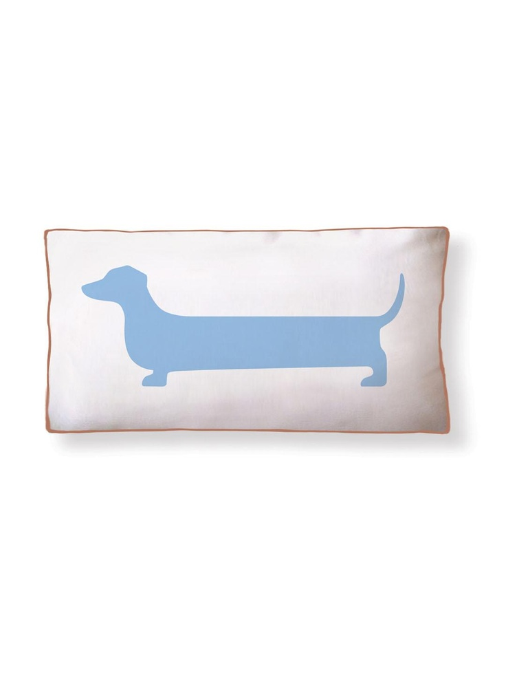 Super Dachshund Long Pillow by Naked Decor- Gilt Home