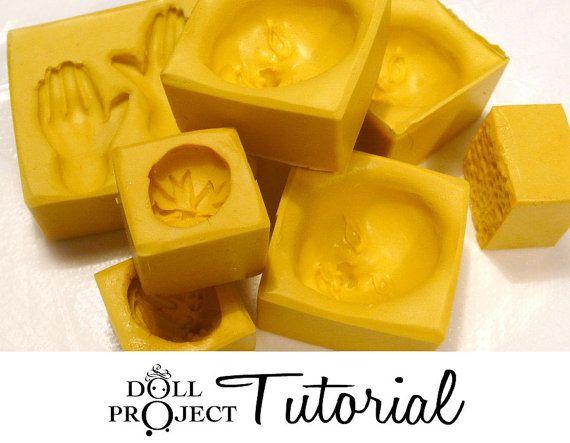 PDF Tutorial moldes flexibles Cómo hacer tu propia pequeña silicón moldea para la muñeca se enfrenta caramelo de la vela del jabón de resina Chcocolate Fimo arcilla del polímero
