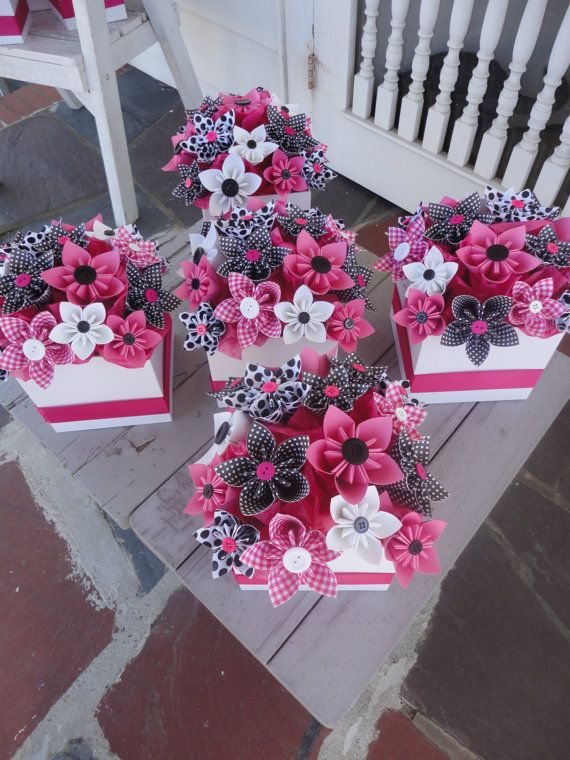 Kusudama centerpieces - with button centers
