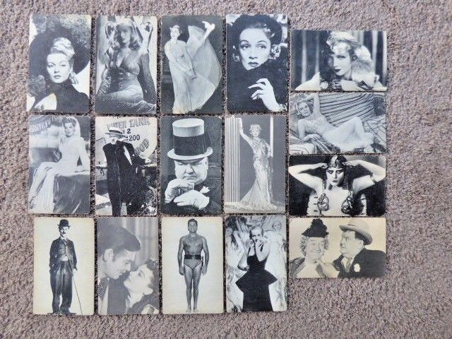 Vintage Hollywood Poster Cards 8 X 5 inches B&W