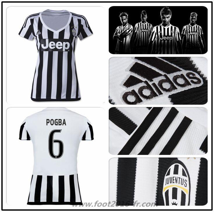 boutique de Maillot Foot Juventus Pogba 6 Femme Domicile 2015 2016 france