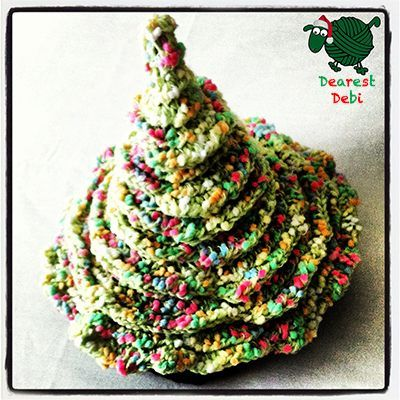 Have an ugly sweater christmas party to attend? Make sure to make the perfect matching accessory.. Crochet Christmas Tree Hat - Dearest Debi Patterns