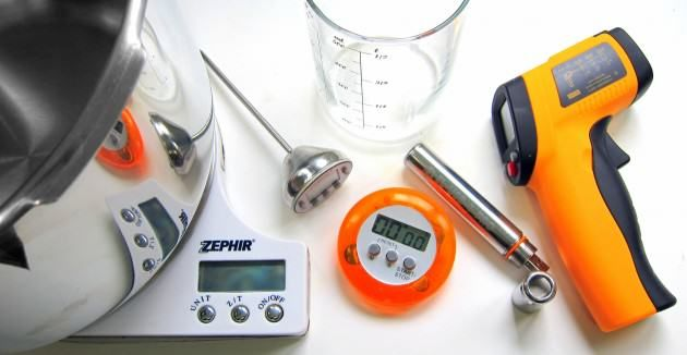 We take reviewing pressure cookers seriously - here is some of the equipment we use!