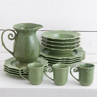 Green dinner set, I would move to the east cost just to get this. Or at least take a holiday :)