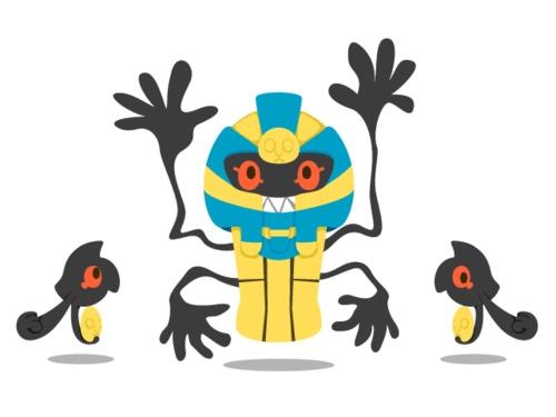 Yamask - Cofagrigus #562 - #563 evolution   Pokemon ...