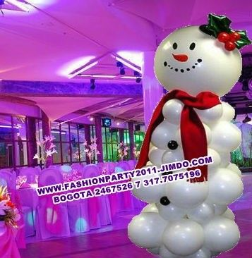 1349 best balloons for christmas images on pinterest - Decoracion de navidad con globos ...