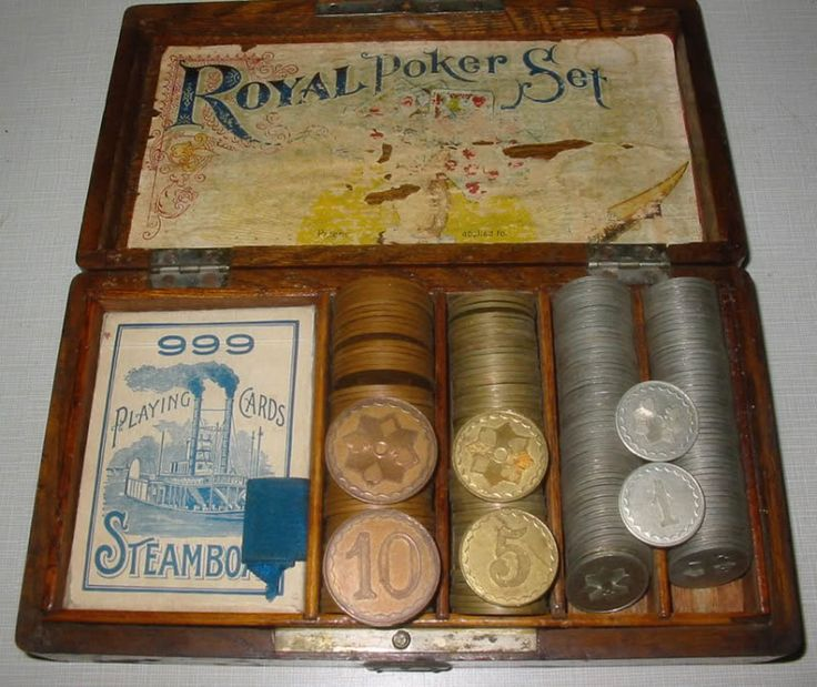 Royal Poker Set. It's been said that Wyatt Earp carried a set like this with him to Alaska by OldWestAntiques.Biz.