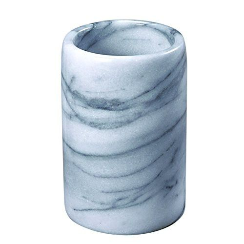 Creative Home 32466 Genuine White Marble Stone Tumbler,