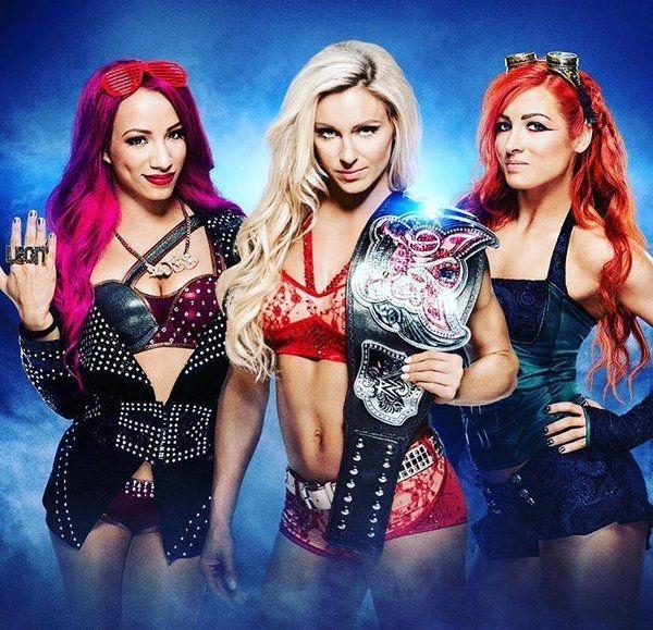 Sasha Banks Charlotte Flair and Becky Lynch