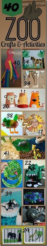 40 Zoo crafts for kids - So many fun, creative kids activities perfect for spring and summer focusing on zoo animals