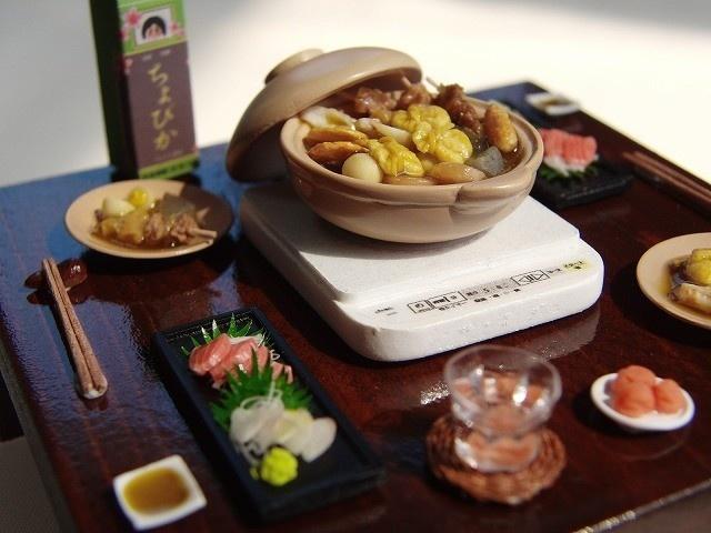 Miniature Food -Japanese 和食 - ちょび子のミニチュアレストラン 樹脂粘土で作る12分の1サイズのミニチュアフード