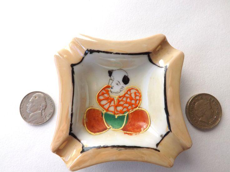 Japanese Retro Ashtray, Gift for Smokers, Midcentury Kitsch Tobaciana, Satsuma Samurai Japan, Smoker Personal Ashtray, Dresser Tray by CuriosAnCollectibles on Etsy