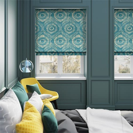 Bocca Teal Roman Blind%20from%20Blinds%202go
