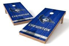 Creighton University Bluejays Single Cornhole Board - Vintage