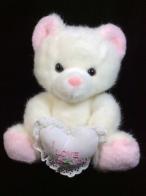 Russ White Teddy Bear I Love You Plush  Pink 1603 9"