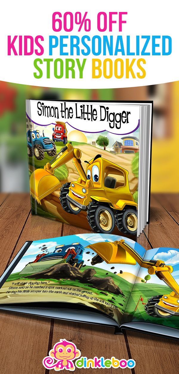 A story about your son or daughter being a little digger who works with some friends to help build a new school. Working together is fun, and teamwork works best.