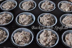 Mohn-Marzipan- Cupcakes - Rezept