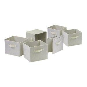 .Beige Fabrics, Capri Foldable, Capri Sets, Foldable Fabrics, Baskets Sets, Beige Sets, Fabric Basket, Fabrics Baskets, Winsome Capri