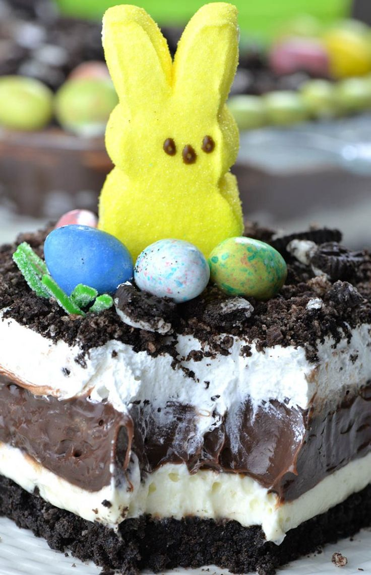 Easter Chocolate Lasagna – OMG Chocolate Desserts   – Easter dirt cake recipe